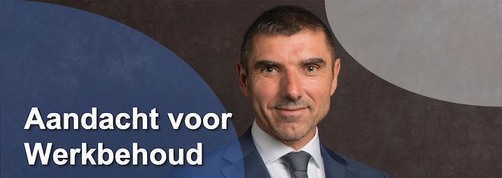 Paul Blokhuis, besteed aandacht aan werkbehoud